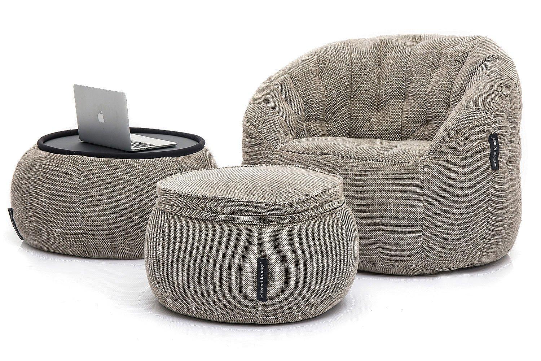 Ambient Lounge® Contempo Package™ Designer-Sitzsack mit Füllung (Indoor-Stoff: Eco Weave)