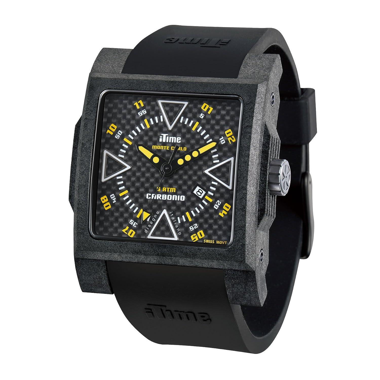 iTime Unisex-Armbanduhr MC4300-C-MC02 Analog silikon schwarz MC4300-C-MC02