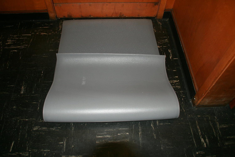 3 Width x 10 Length x 3//8 Thickness Rhino Mats CST-310-38G Comfort Step Textured Vinyl Foam Anti-Fatigue Mat Gray