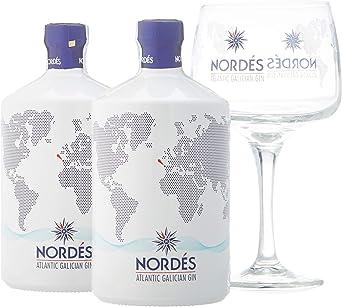 Ginebra Premium nacional Nordés Atlantic Galician Gin - Pack de 2 ...