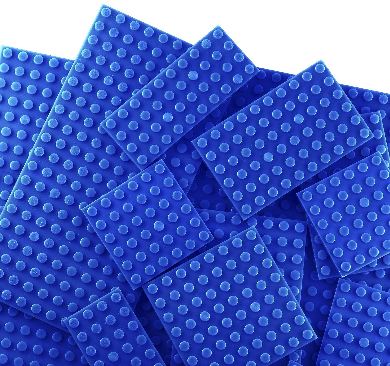 BRICTEK Base Plates Multi Sizes Blue 17 pcs AriSiegal//Brictek-19014