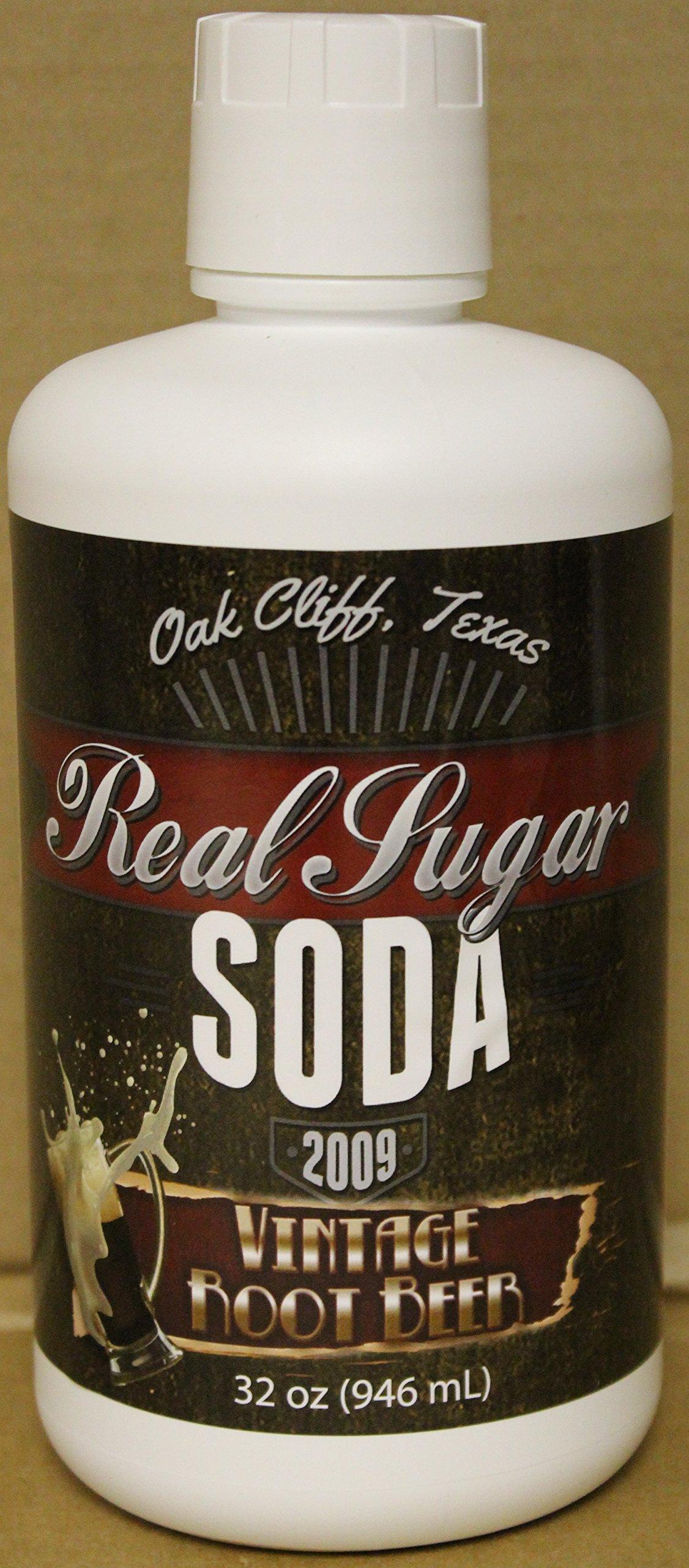 Vintage Root Beer Cane Sugar Soda Syrup 4 Pack by Real Sugar Soda