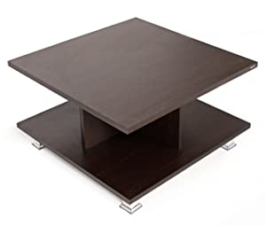 Bluewud Sydney CT-SY-W Coffee Table with Shelves (Wenge)