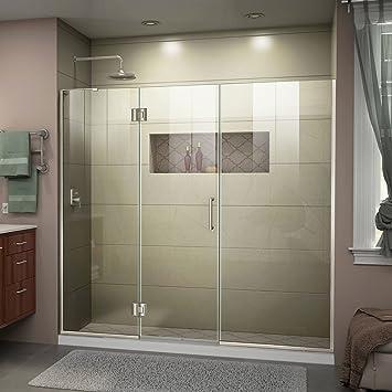 DreamLine unidoor-x con bisagras para mampara de ducha con soporte ...