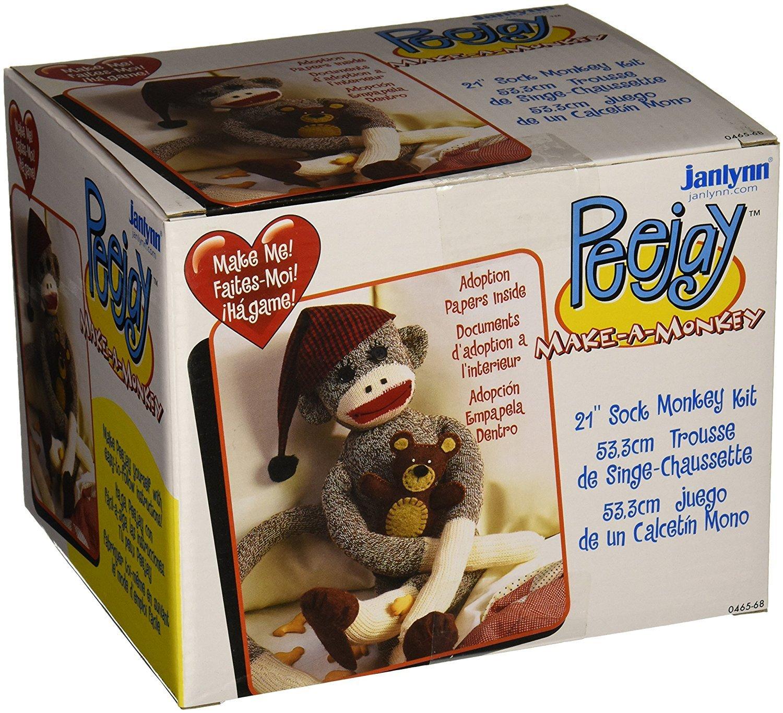 Janlynn Peejay The Sock Monkey 000-0465-68