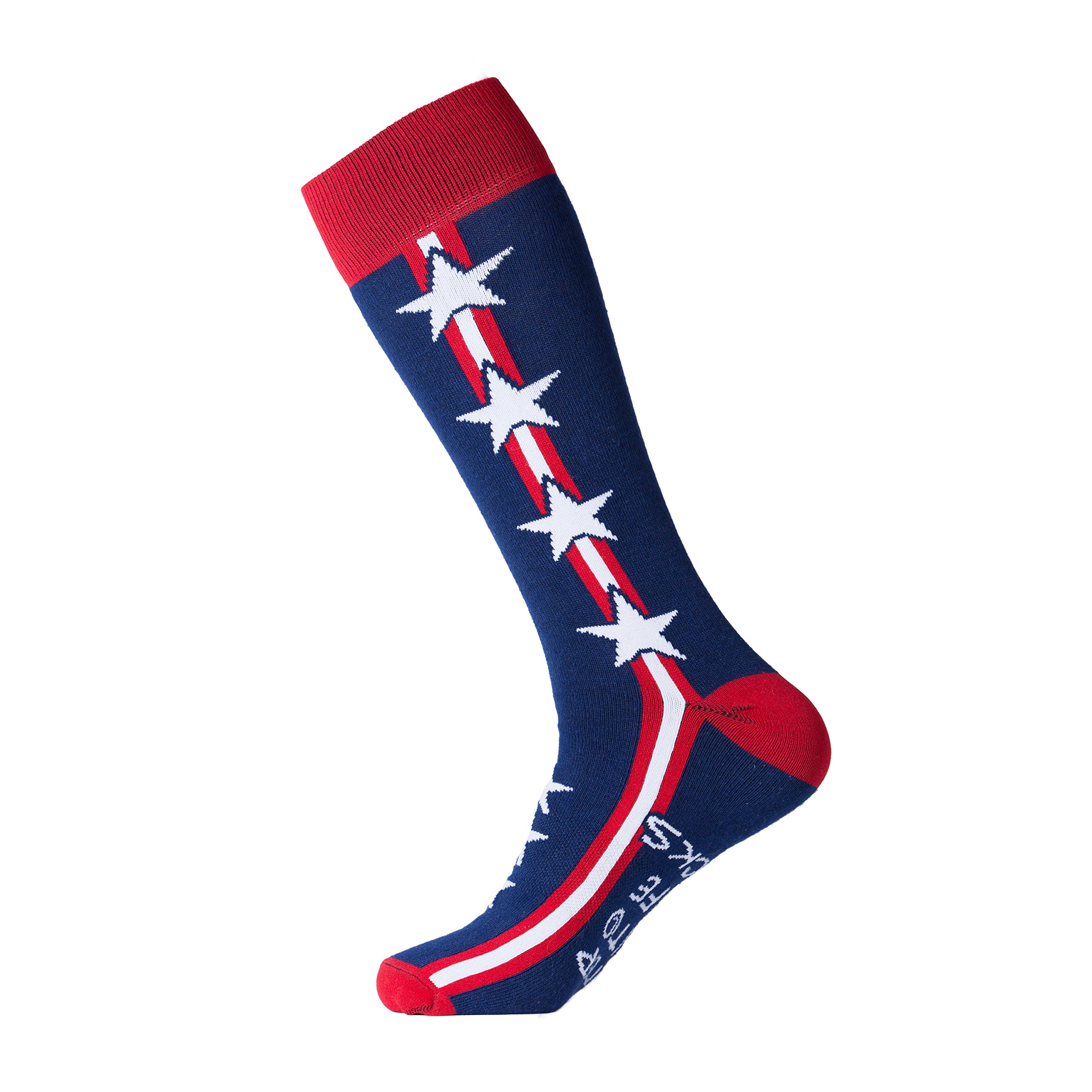 Men's Socks Patriot by Step Into Life American Made Combed Cotton Stylish Pattern Fun Business Casual Funky