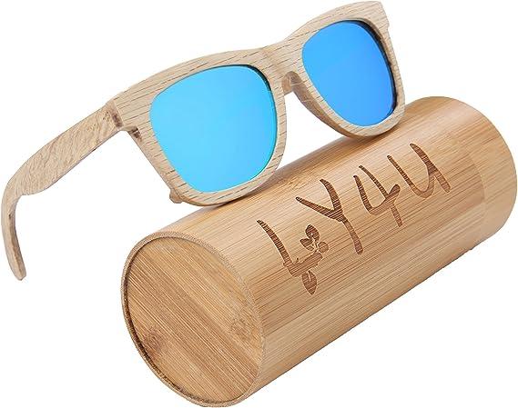 LY4U madera para hombre y gafas de sol para mujer, gafas Vintage ...