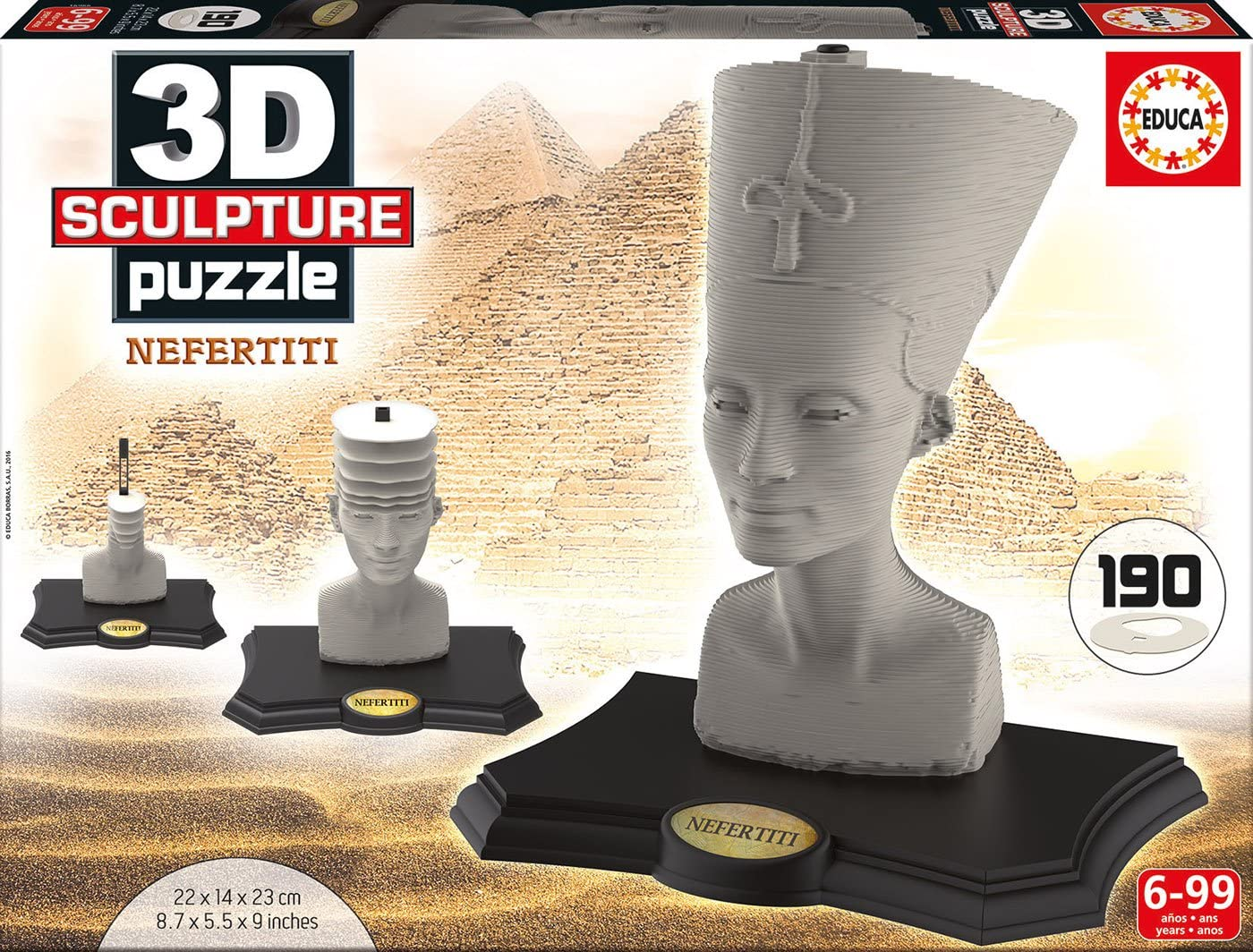 Educa Borrás - Nefertiti, Puzzle 3D Escultura (16966)