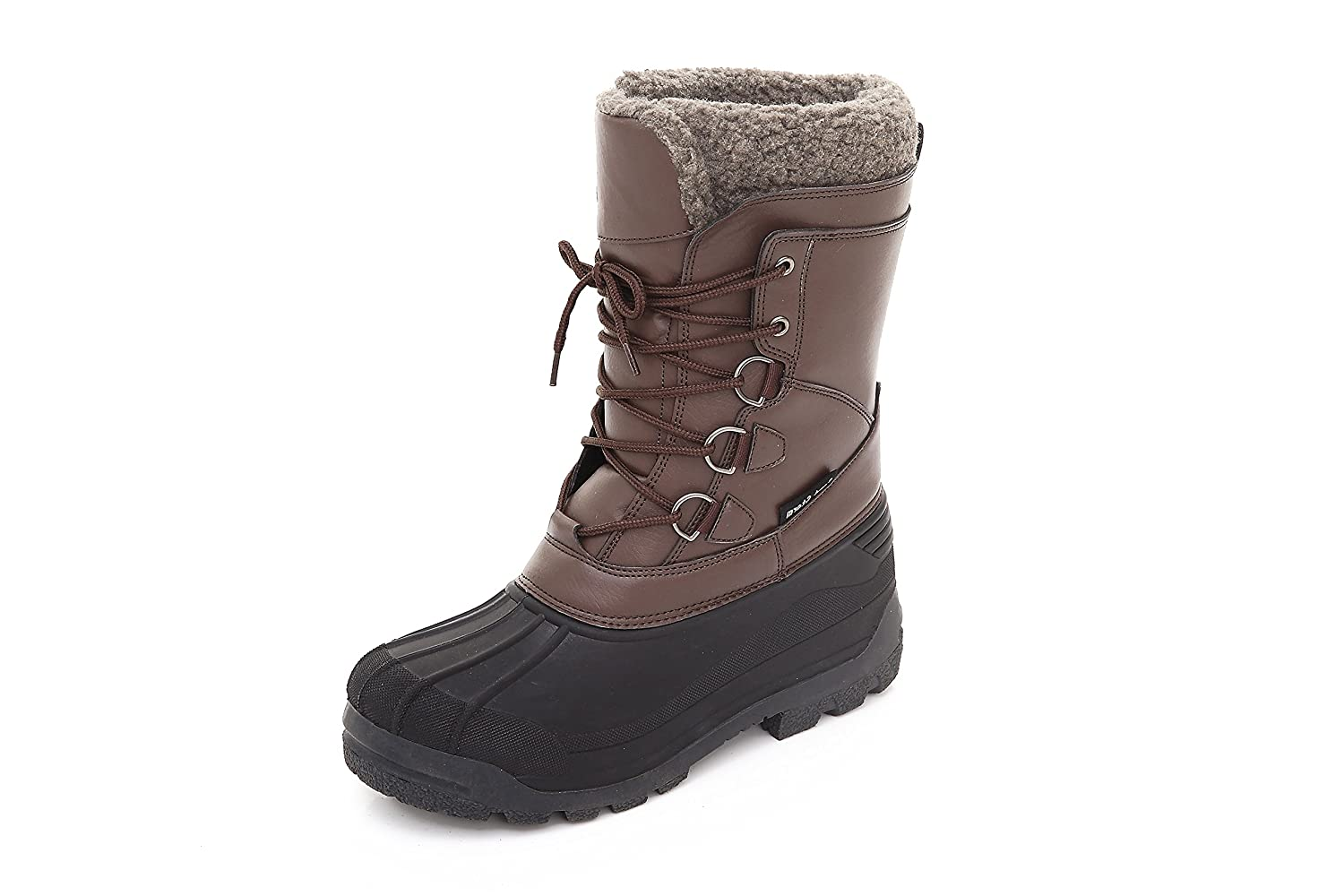 Sand Storm Mens Insulated Winter Snow Boots Lace-up Closure Comfortable Weatherproof Warm