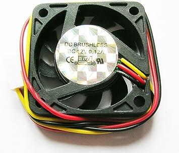Bajo nivel de ruido 40 mm 4 cm negro caso ventilador 12 V 0.12 A con 3 pin placa base fuente de alimentación conector: Amazon.es: Electrónica