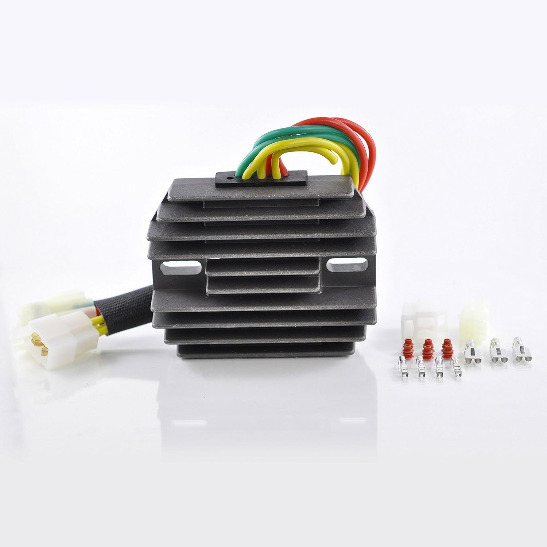 Voltage Regulator Rectifier For Arctic Cat 375 400 500 cc/Suzuki SV 650 SV 1000 VStrom 650 2000-2010 OEM Repl.# 32800-16G00 32800-16G01 32800-16G02 3402-682 3530-028 3530-059 RMSTATOR