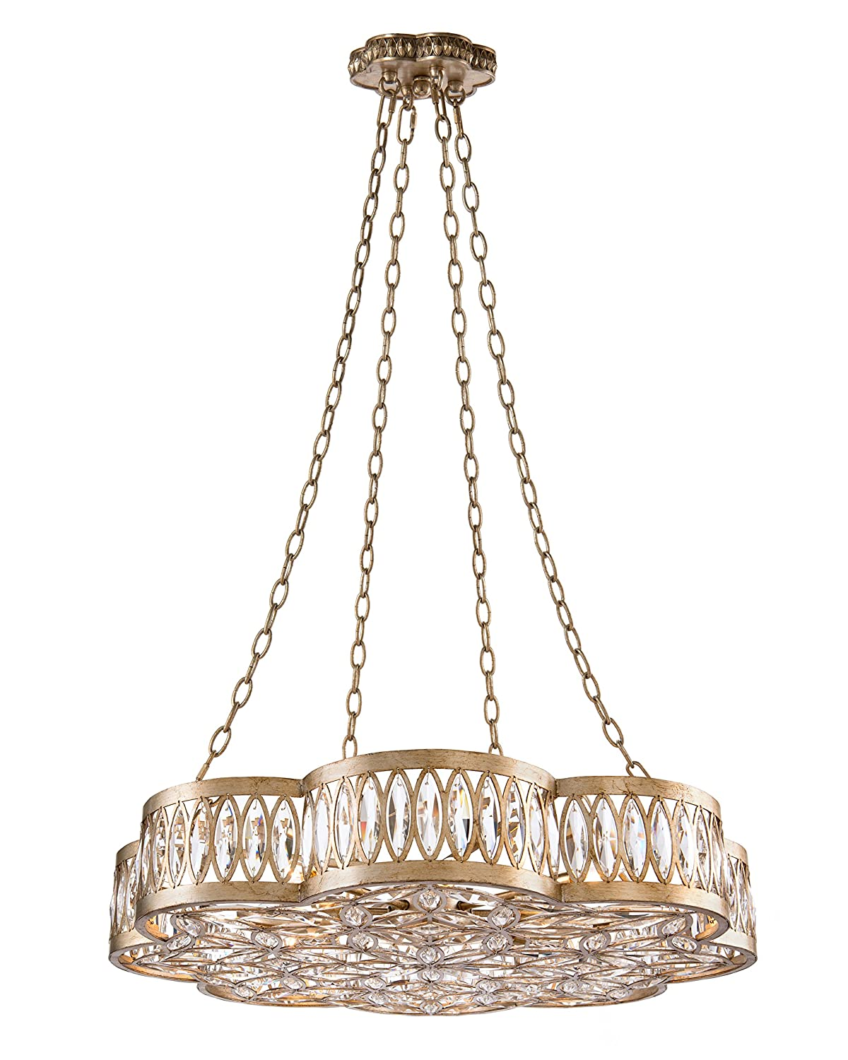 John richard lighting Table Amazoncom John Richard Eight Light Diamante Chandelier Amazoncom
