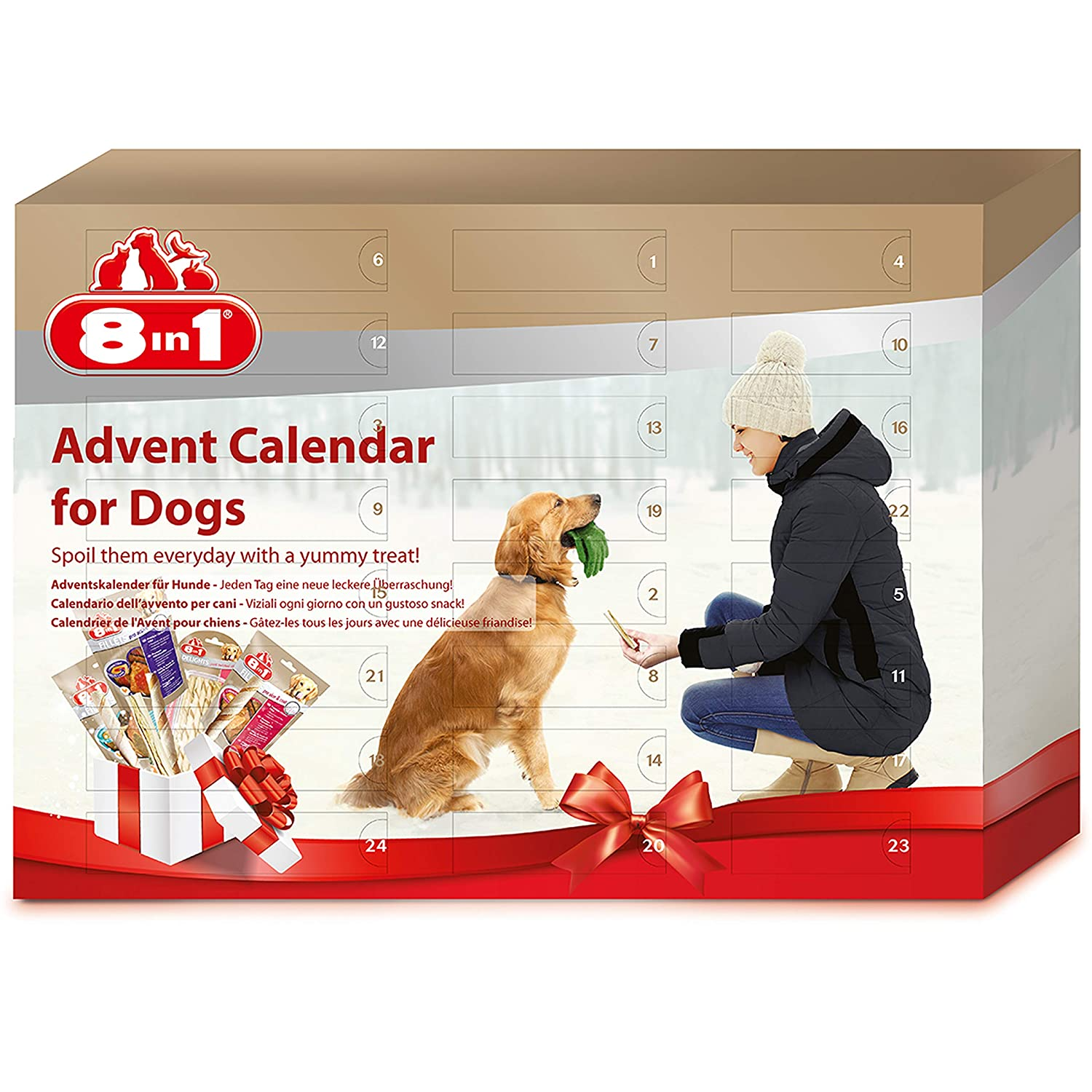 8 in 1 Advent Calendar with Yummy Treats for your Dog Spectrum Brands T661455