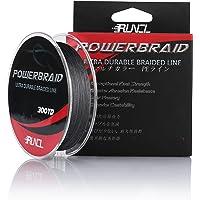 RUNCL PowerBraid Fishing Line 4/8/9 Strands, Braided Fishing Line 300/500/1000Yds - Seamless Weaving Tech, Enhanced Coating Tech, Zero Stretch, High Sensitivity, Smaller Diameter - Braid Line 15-115LB
