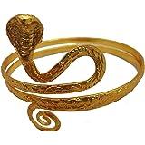 Gold Tone Metal Upper Arm Snake Bracelet Adjustable