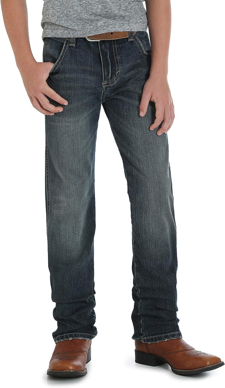 Wrangler Authentics Boys' Retro Slim Fit Straight Leg Jean: Clothing
