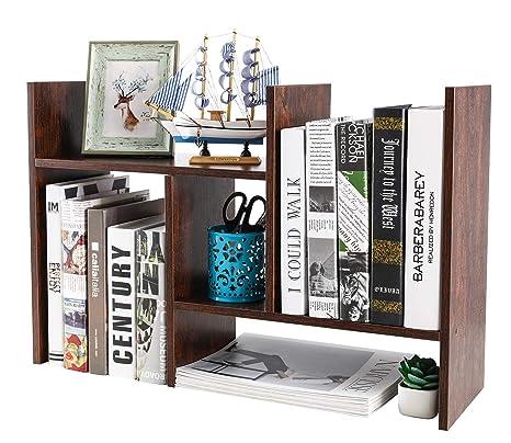 Amazon.com: PAG - Estantería de escritorio de madera para ...