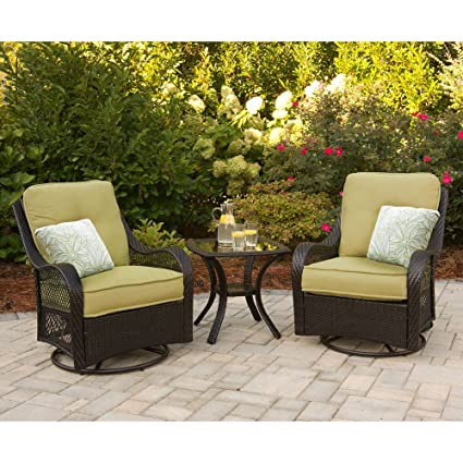 Amazon Com Hanover Orleans3pcsw Orleans 3 Piece Lounging Set
