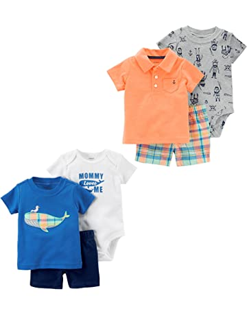43ec3c328 Carter's Baby Boys' 6-Piece Bodysuit Tee and Short Set