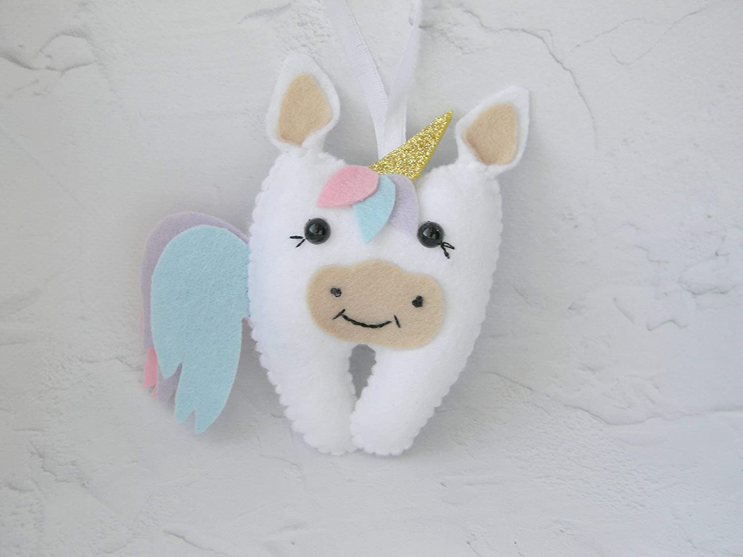 unicorn tooth fairy pillow girl tooth