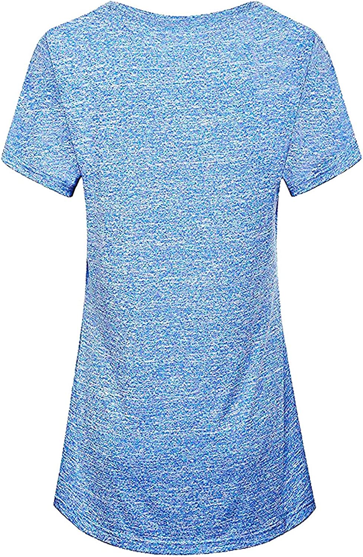 iClosam Camiseta para Mujer Yoga Deportiva Colores Lisos Fitness Transpirable Sueltos Gimnasio Ropa Algodon De Mujers: Amazon.es: Ropa y accesorios