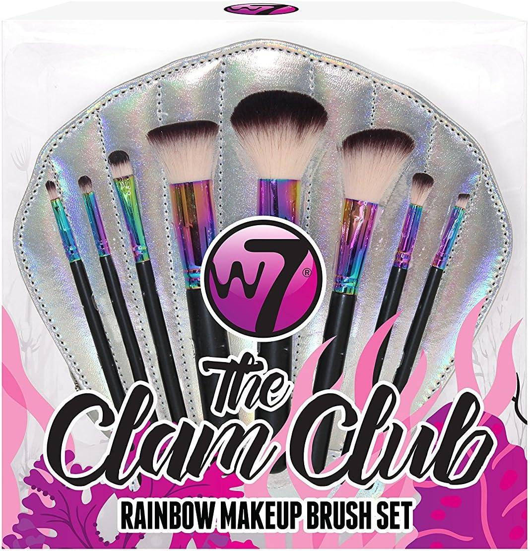 W7 The Clam Club Rainbow 8-Piece Professional Make Up Brush Set ...