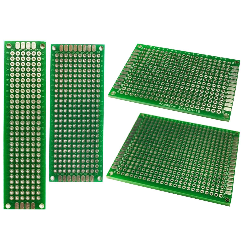 Vococal - 20 Piezas Doble-Cara Circuito PCB Placa Kit de Junta de Fibra de Vidrio Universal, 5x7/4x6/3x7/2x8cm P201708010005