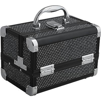 Mini Makeup Cosmetic Train Case Organizer Storage