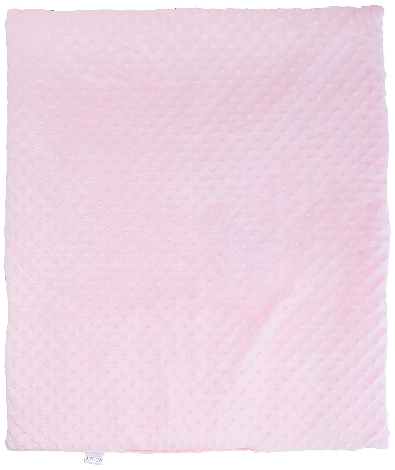 blueberryshop Reversible Minky algodón edredón y almohada juego para cochecito de bebé/Cuna/Moisés, Rosa, 2 piezas: Amazon.es: Bebé