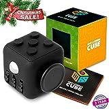 Anti stress Fidget Cube Prime - Exclusive Quality Stress Reliever (All Black Premium)