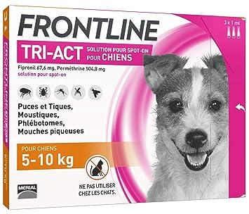 Puces Frontline Tri 3 5 Pipettes Anti Tiques 10kg Chien Et Pour Act IEHW29D