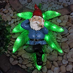 """Exhart Good Time Ganja Lounging Gnome Statue 