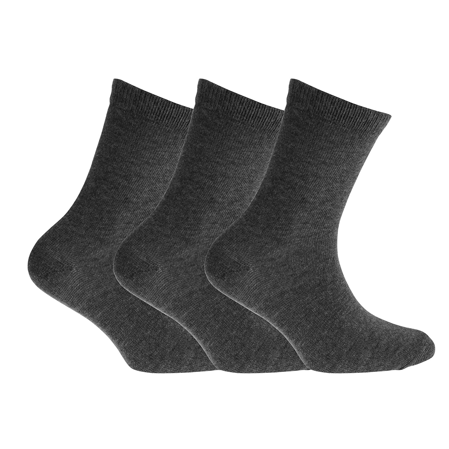 Childrens Boys Cotton Rich Socks With Elastane (Pack Of 3) Universal Textiles