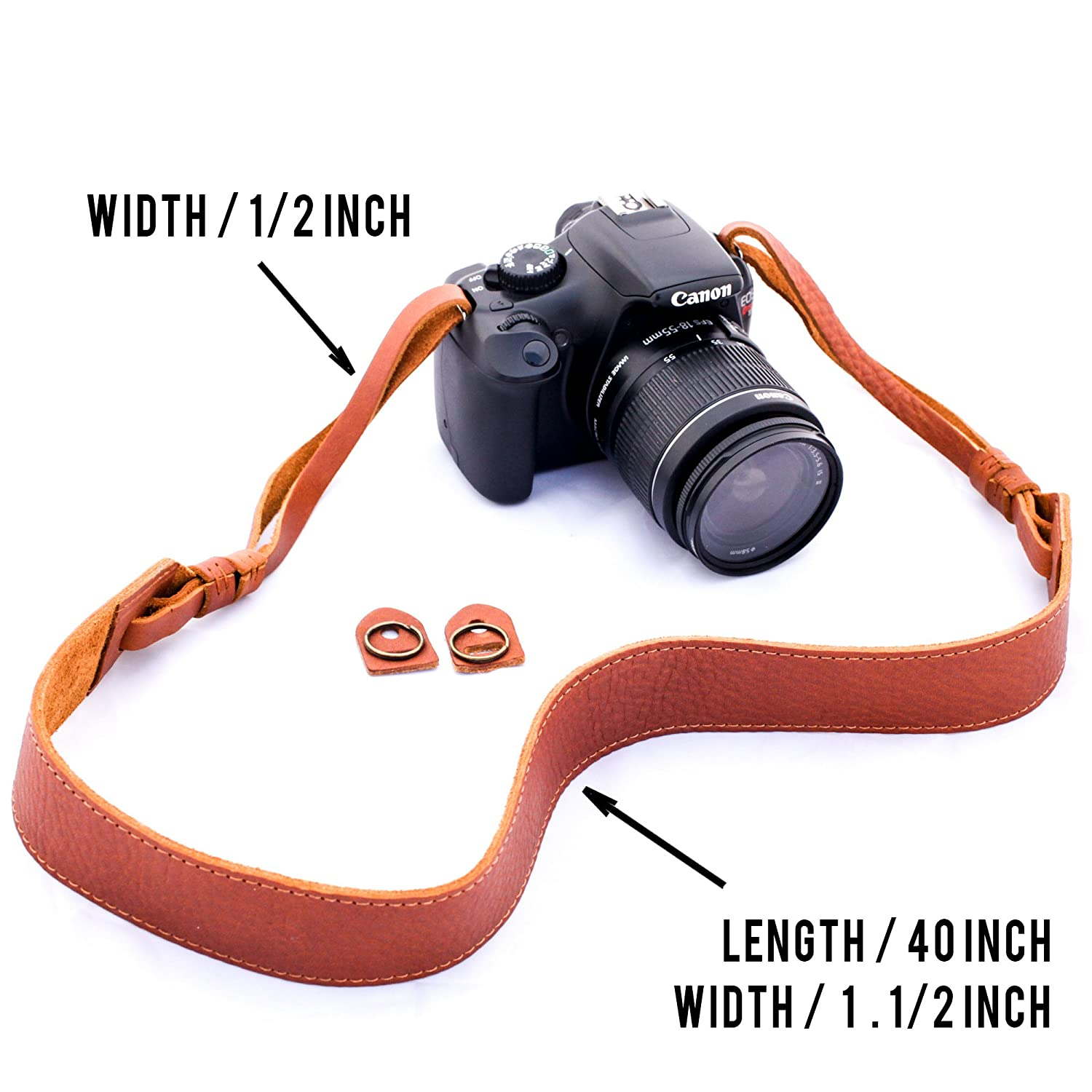 Amazon.com : b.still Leather Camera Shoulder Neck Strap for Leica ...