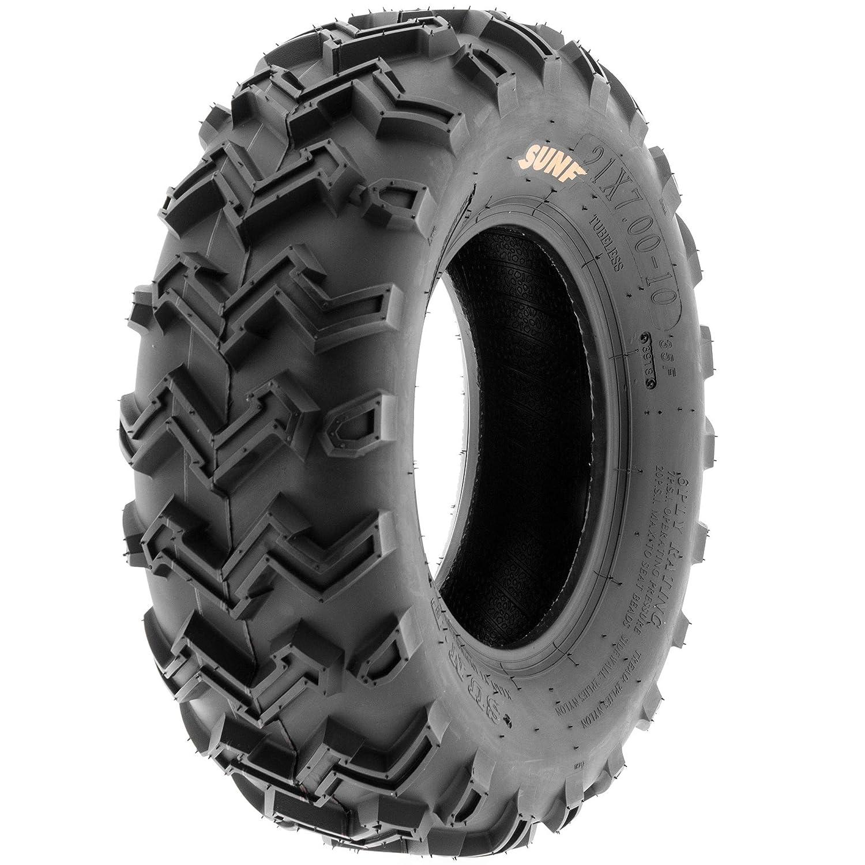 SunF ATV UTV 21x7-10 All Terrain 6 PR Tubeless Replacement Trail Tire A001, Single