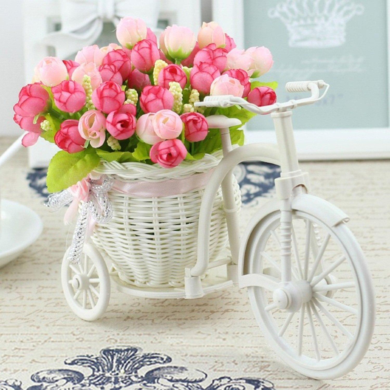 EoCot 造花バスケットセット 花瓶 家庭 オフィス 花飾り ウェディングフラワー JJCPSTF1072 B07GNLSGD8 Type D
