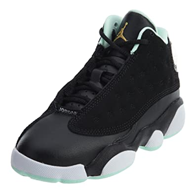 4009b10fe16303 Jordan Retro 13 quot Mint Foam Black Metallic Gold-Mint Foam (Little Kid