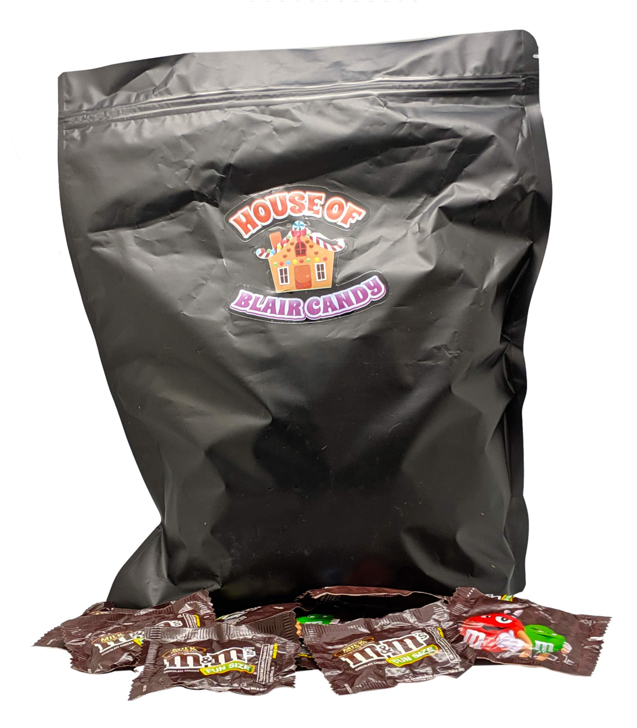 M&Ms Milk Chocolate Fun Size Candy - 5 LB (Approx. 160 Fun Size Packs) - Comes in a Sealed/Resealable Bag - Perfect For Parties, Pinata, Office Bowl, Wedding Favors, Easter Baskets by Blair Candy