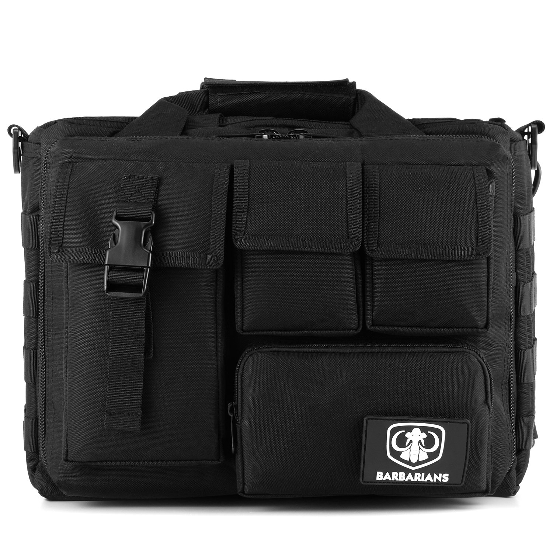 Barbarians Tactical Laptop Bag Pro Multifunction Mens Military Molle Messenger Laptop Bag Handbags Briefcase Satchel Crossbody Sling Case Fits 14 Laptop Camera iPad Black