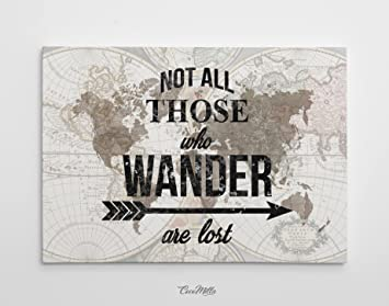 Amazon world map quote watercolor world map canvas print world map quote watercolor world map canvas print travel quote art wanderlust gumiabroncs Gallery
