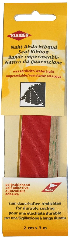 Kleiber 3 m x 2 cm Self Adhesive Waterproof Fabric Seam Repair Tape for Tents Coats Umbrellas Etcetera, Red by Kleiber 432-30