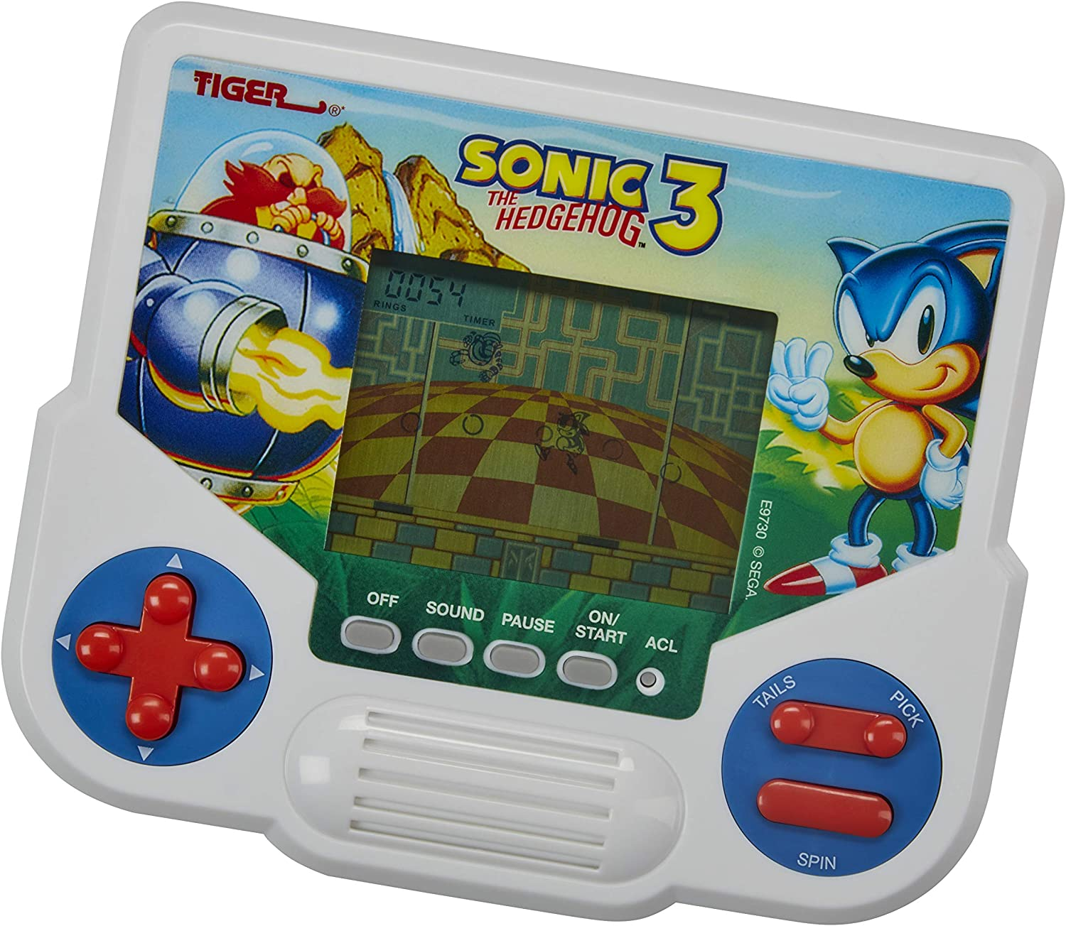 Tiger Electronics Sonic The Hedgehog 3 Electronic LCD Video Game, Retro-Inspired Edition, Handheld 1-Player Game, Ages 8 and Up: Toys & Games