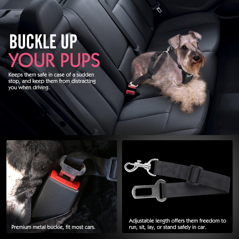 81IeRyJVqUL._SL1500_ amazon com pawaboo dog safety vest harness, pet dog adjustable car harness at nearapp.co