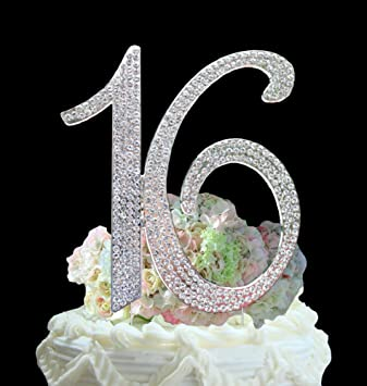 Amazoncom Number  Sweet  Birthday Cake Topper Monogram - Sweet 16 birthday cakes