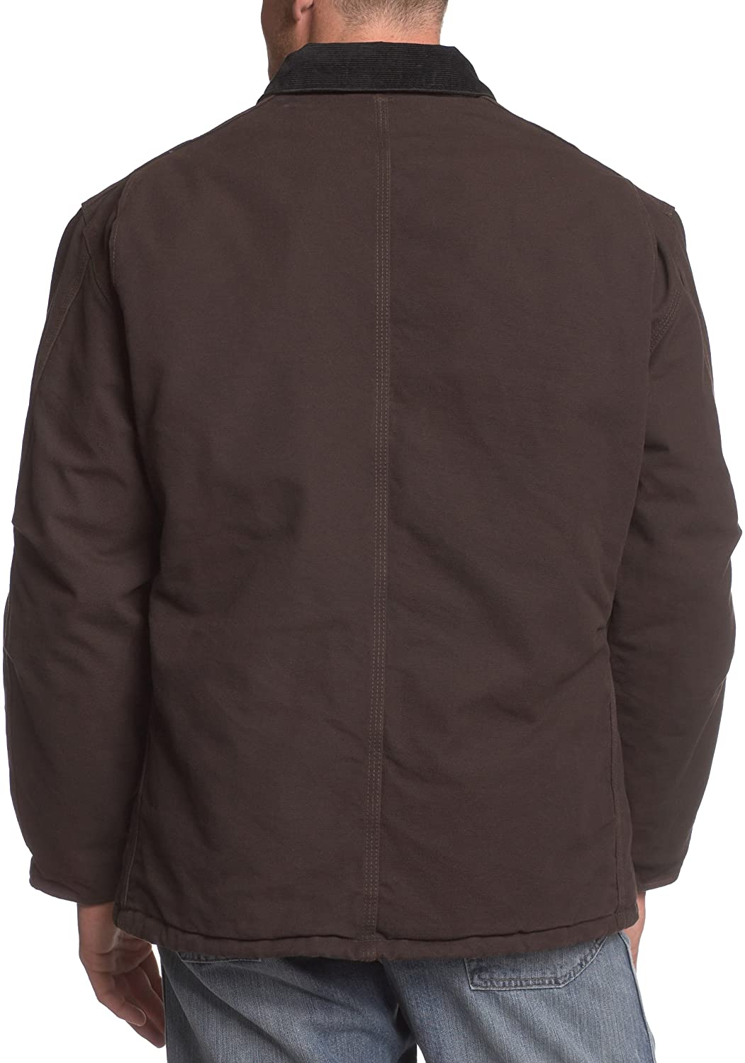 Carhartt Mens Big & Tall Arctic-Quilt Lined Sandstone Duck Traditional Coat C26,Dark Brown,XXXX-Large Tall