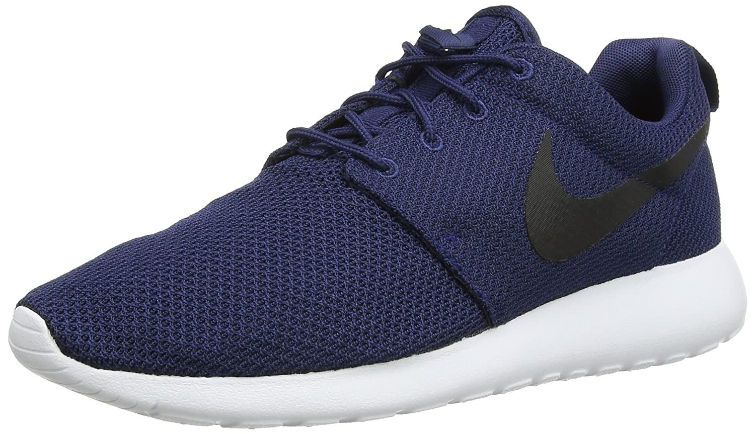 size 40 d43bd 9bcd3 Amazon.com   NIKE 511881-405 Men Roshe ONE Midnight Navy White Black   Road  Running