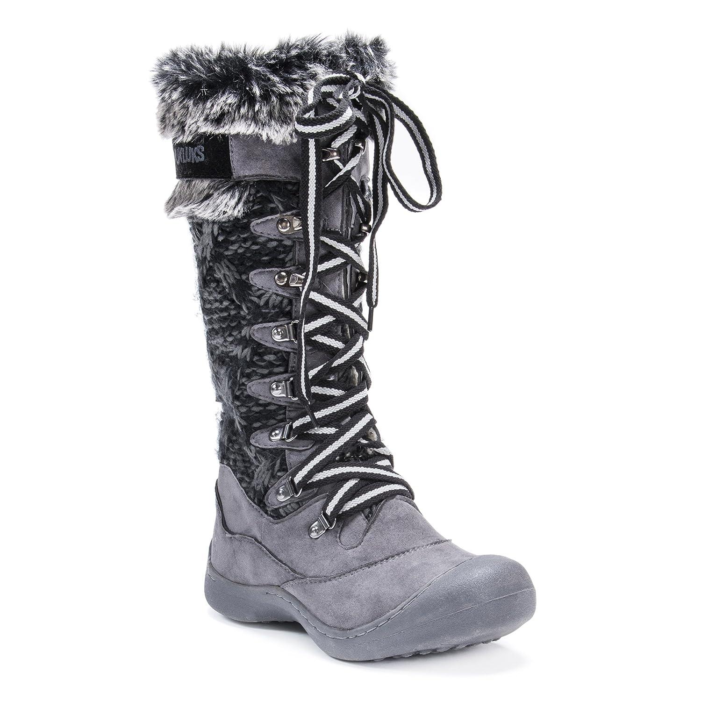 MUK LUKS Women's Womn's Gwen Snowboots-Grey Rain Shoe B072MQXCFC 8 B(M) US|Grey