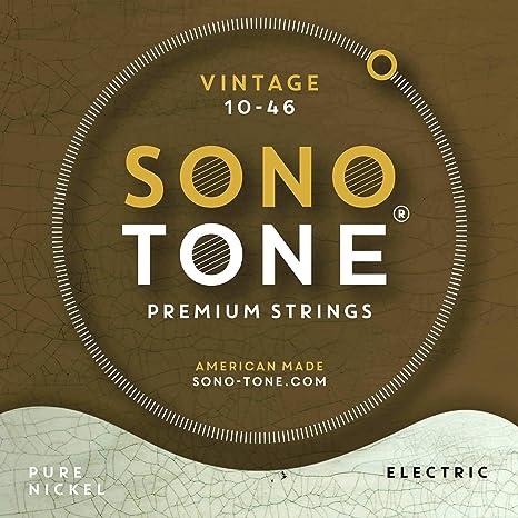 Sonotone Vintage cuerdas para guitarra eléctrica 10 – 46: Amazon ...