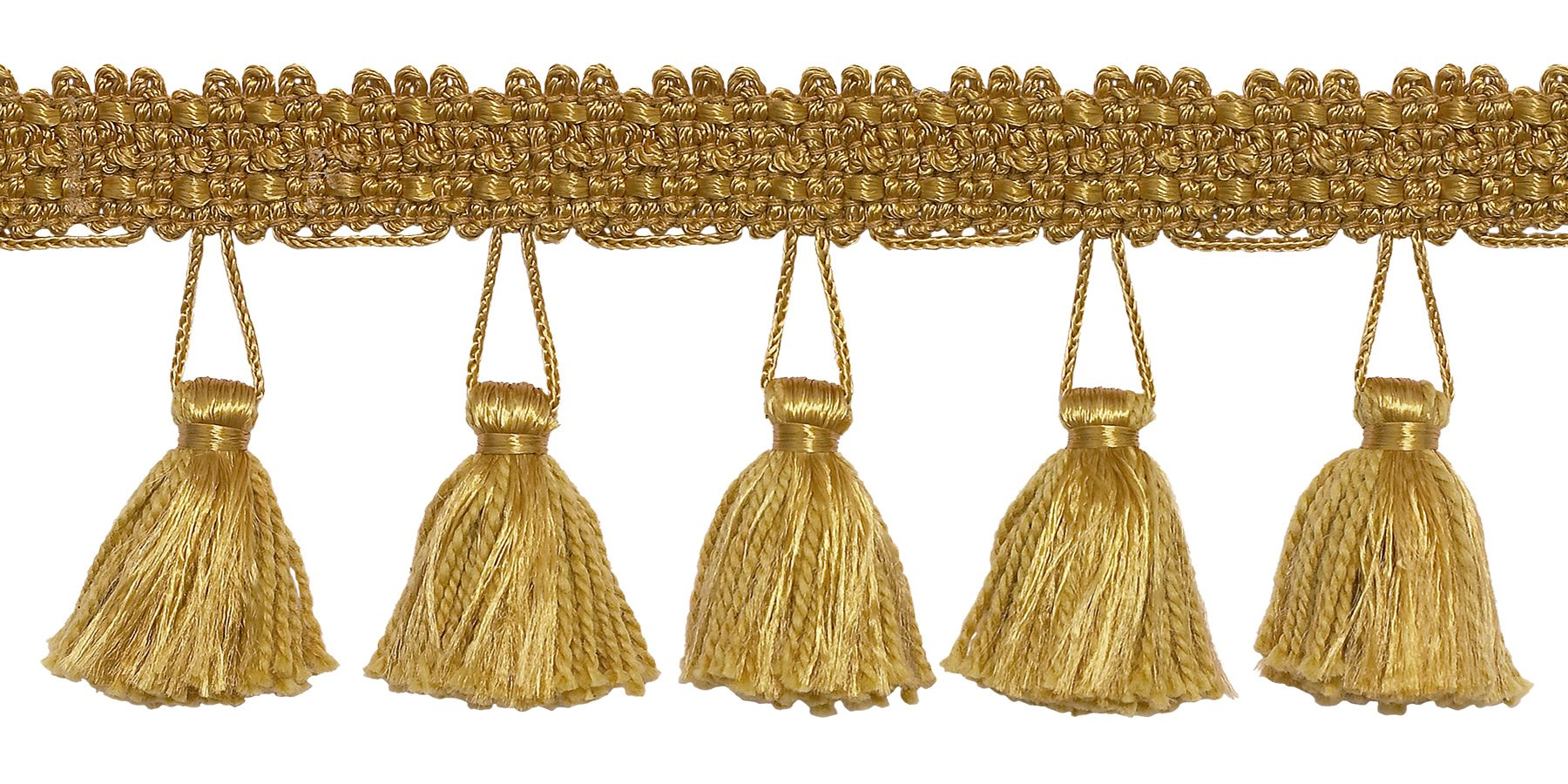 DÉCOPRO 10 Yard Value Pack of 2.5 Inch Tassel Fringe Trim, Style# ETF Color: Gold - C4 (30 Ft / 9.1 Meters) by DÉCOPRO