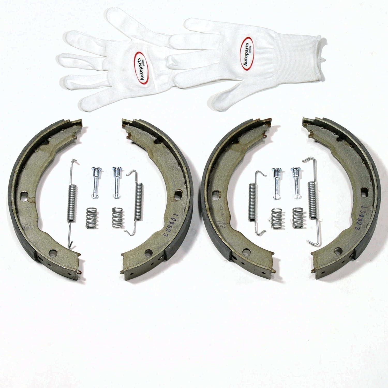 Autoparts-Online Set 60009041 Handbremsbacken//Feststellbremse//Handbremse Zubeh/ör Hinten